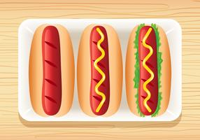 3 Delicious Hotdog Vectors