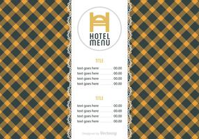 Free Hotel Menu Vector Template