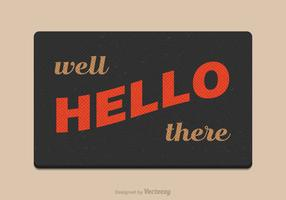 Free Vector Welcome Mat