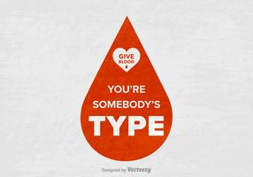 Free Blood Drive Slogan Vector Poster