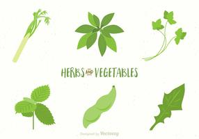 Free Vegetables And Herbs Vectors