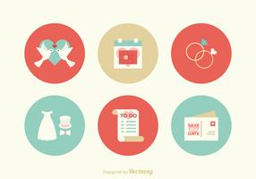 Free Flat Wedding Vector Icons