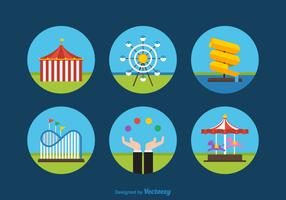 Free Flat Amusement Park Vector Icons