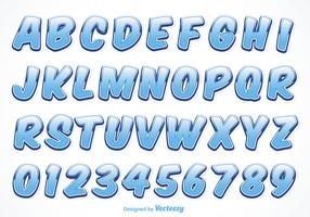 Free Vector Water Font