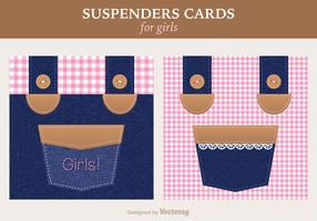 Free Girly Suspenders Vector Greeting Card