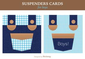 Free Vector Suspenders Card