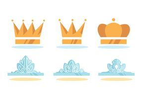 Pageant Crown Vector Set