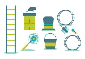 Chimney Sweep Vector Set