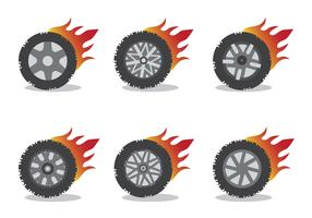 Burnout Wheel Vector Set