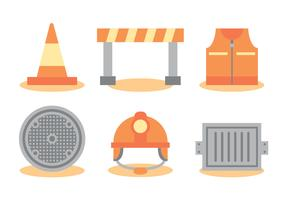 Construction Manhole Vector Set