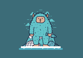 Free Cartoon Yeti Vector