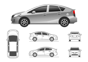 Illustration Toyota Prius