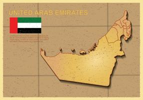 Free UAE map Illustration