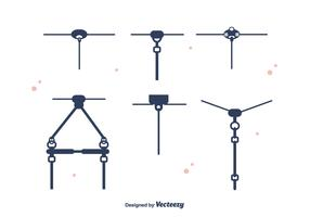 Zipline Set Vector