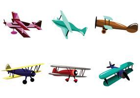 Multicolor Biplane Vector