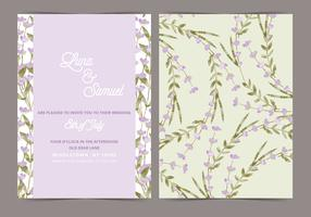 Lavender Vector Wedding Invite