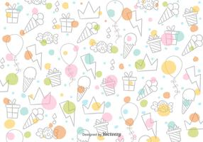 Cartoon Sweets Vector Pattern