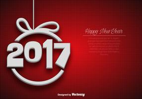 Abstract Elegant Background For 2017 New Year Celebration