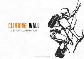 Vector Climbing Wall Illustration