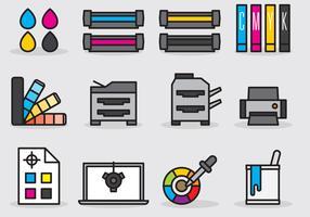 Cute Printing Icons