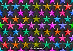 Vector Background With Colorful 3D Stars Seamless Pattern