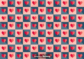 Vector Tiled Pattern With Paper Hearts