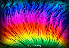 Abstract Style Rainbow Background