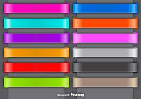 Set Of Colorful Vector Ribbons