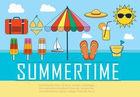 Free Summer Vector Illustration