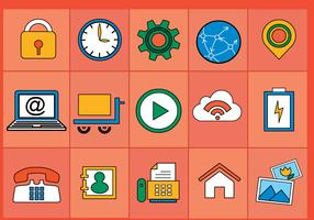 Flat Various Icons Vectors