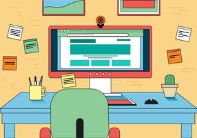 Webcam Work Space Vector Design