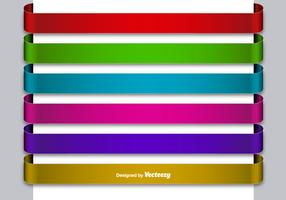 Set Of 6 Metallic Colorful Blank Banners
