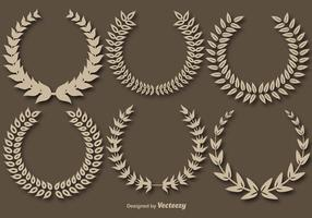 Wreath Crowns Vector Set