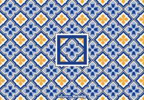 Free Vector Geometric Azulejo Pattern