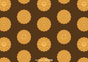 Free Mooncake Vector Seamless Pattern