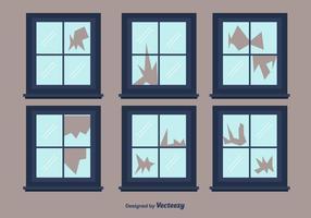 Broken Window Vector
