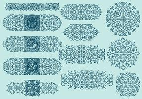 Line Scrollwork Dividers