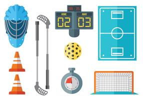 Free Floorball Icons Vector