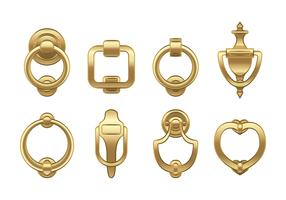 Door Knocker Gold Vector