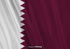 Vector Realistic Illustration Of Qatar Flag.