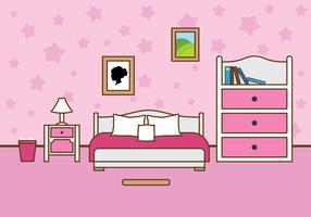 Free Girls Room Vector Illustration