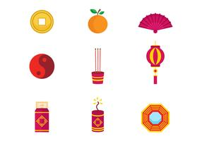 Free Chinese New Year Icons Vector