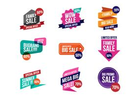 Free Sale Discount Banner Vector