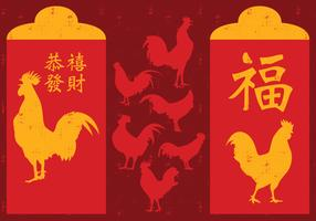 Chinese New Year Rooster Red Packet