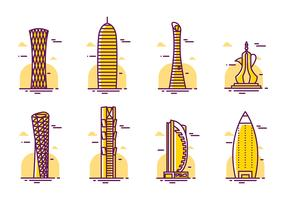 Qatar Skyscrapers Vector