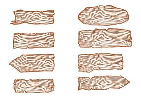 Free Wood Logs Sign Vectors