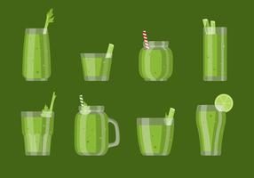 Celery Smoothie Vector