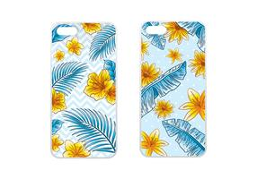 Phone Case Tropical Blue Vector