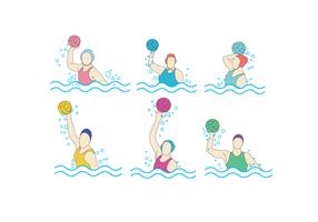 Water Polo Girls Vector