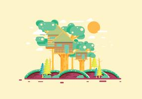 Treehouse 2 Vector